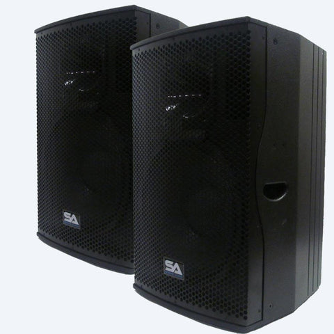 "Magma-15-PW - Pair of Premium Active 15"" Full Range 2-Way Loudspeaker Cabinets"