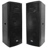 "Magma-215-PW - Pair of Premium Active Dual 15"" 2-Way Bi-Amp Loudspeaker Cabinets"