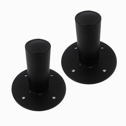 Pair of Internal Top Hat Metal Speaker Pole Mount