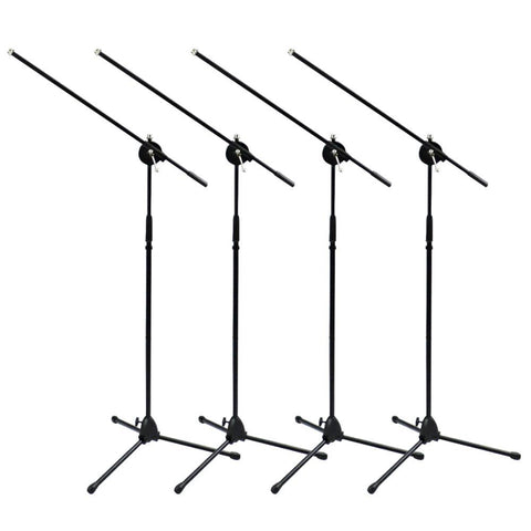 Four Tripod Microphone Stands with boom