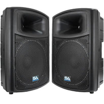 "NPS-15 - Pair of 15"" PA DJ Molded Speaker"