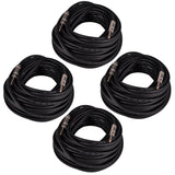 "Q12TW100 - 4 Pack of 100 Foot 1/4"" to 1/4"" Speaker Cables -12 Gauge 2 Conductor"