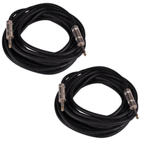 "Q12TW25 - Pair of 25 Foot 1/4"" to 1/4"" Speaker Cables -12 Gauge 2 Conductor"