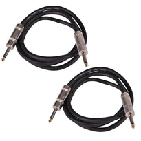 "Q12TW5 - Pair of 5 Foot 1/4"" to 1/4"" Speaker Cables -12 Gauge 2 Conductor"
