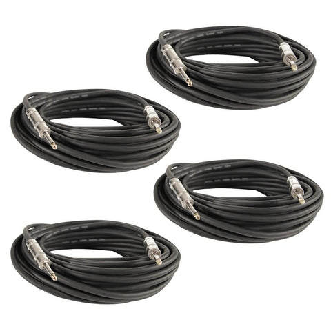 "Q12TW50 - 4 Pack of 50 Foot 1/4"" to 1/4"" Speaker Cables -12 Gauge 2 Conductor"