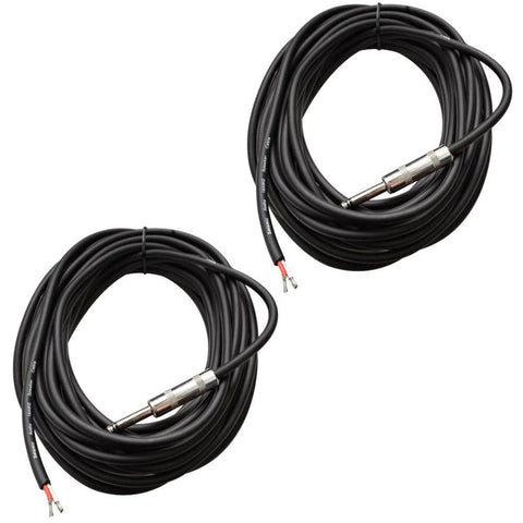 "QRW35 - 2 Pack Raw Wire to 1/4""  Speaker Cable 35'"
