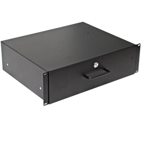 RD3U - 3 Space Metal Rack Case Locking Drawer