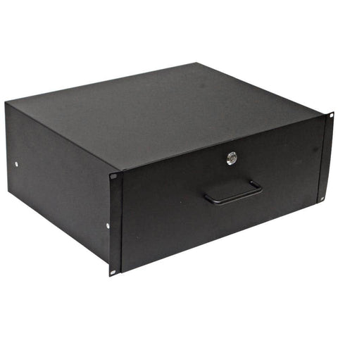 RD4U - 4 Space Metal Rack Case Locking Drawer