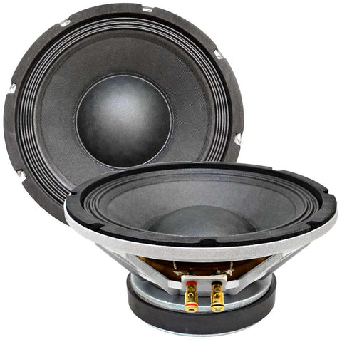"Richter-10 - (Pair) 10"" Raw Speaker/Woofer 200 W RMS"