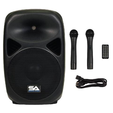 RSG-12 - Powered 12 Inch PA Speaker - Rechargeable with 2 Mics, Remote and Bluetooth