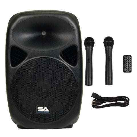 RSG-15 - Powered 15 Inch PA Speaker - Rechargeable with 2 Mics, Remote and Bluetooth