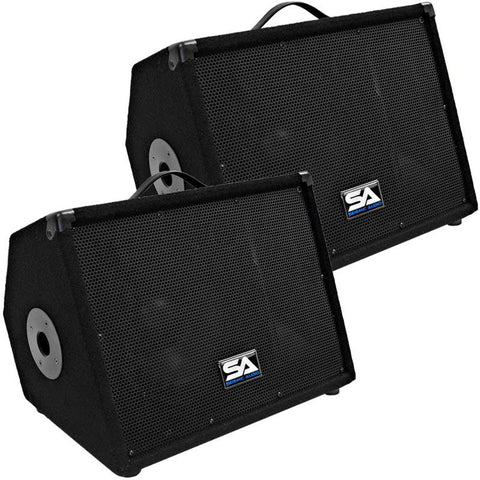 "SA-10M.3 Pair 10"" Floor Monitors Speakers w/pole mount"
