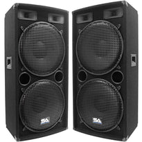 "SA-155.2 - Pair of Dual 15"" PA / DJ / Band Speakers"