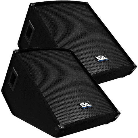 "Pair of 15"" Floor / Stage Monitors Wedge Style"