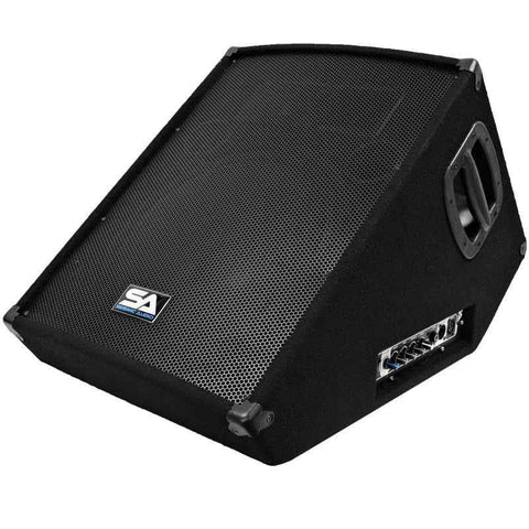 "SA-15MT-PW - Powered 2-Way 15"" Floor / Stage Monitor Wedge Style with Titanium Horn"