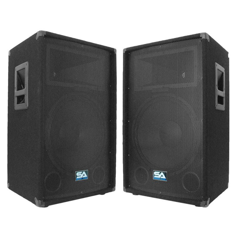 15 Inch Pa Loudspeaker Cabinet Mains Pair Of 15 Inch