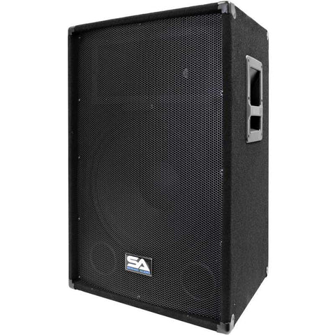 "SA-15T-PW - Powered 2-Way 15"" PA / DJ / Band Speaker Cabinet with Titanium Horn"