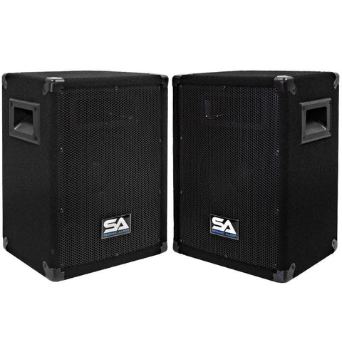 "Pair of 8"" Pro Audio Speaker Cabinets"