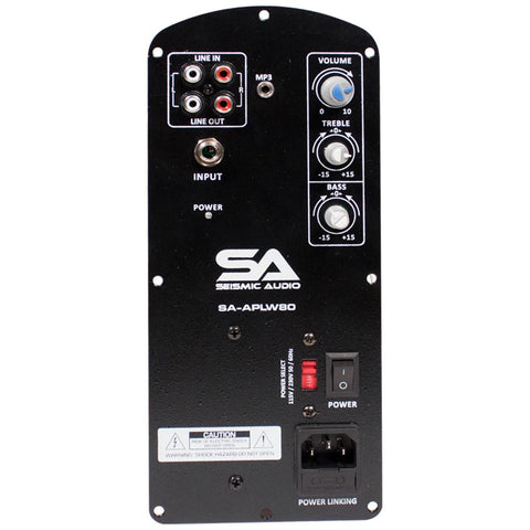 SA-APLW80 - 60 Watt Class AB Plate Amplifier for PA/DJ Loudspeaker Cabinets