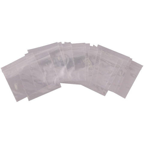 SA-B1H1H - 100 Pack of 1.5 Inch x 1.5 Inch Clear Reclosable Poly Bags - 2 MIL