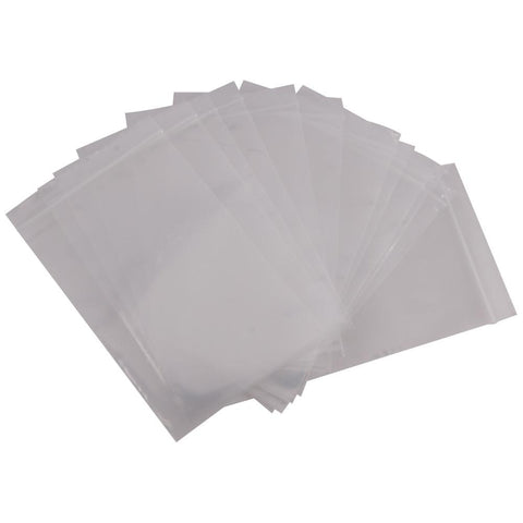 SA-B46 - 100 Pack of 4 Inch x 6 Inch Clear Reclosable Poly Bags - 2 MIL