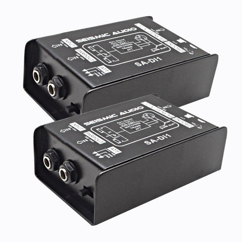SA-DI1 - Pair of Passive Direct Box with Ground Lift and Attenuator Switch