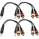 "SA-iEM2TRSF (4 Pack) - Male 1/8"" to Female RCA Patch Cable"