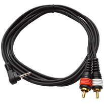 "SAiRTSY6 - Right Angle 1/8"" to Dual Male RCA Patch Cable"