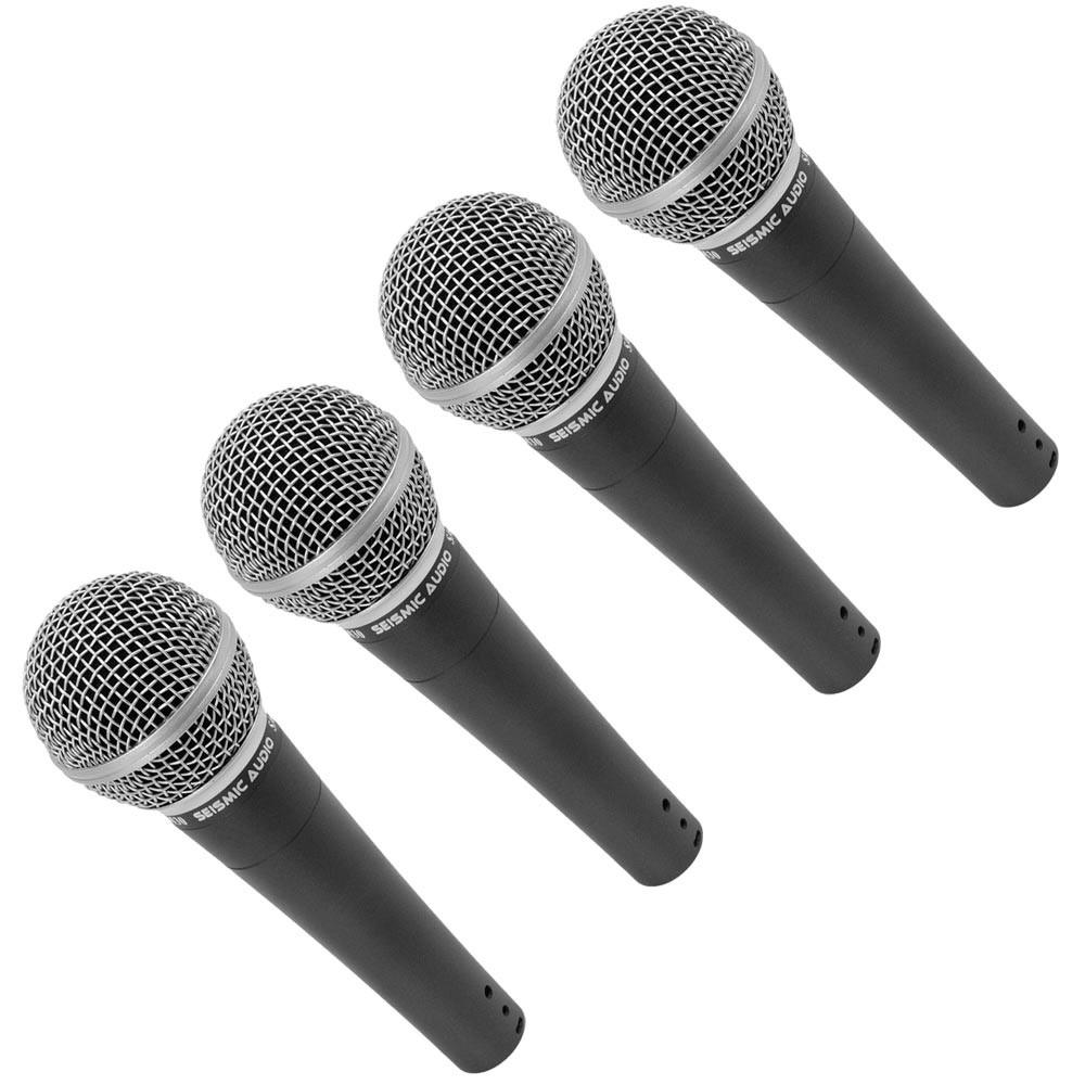 four dynamic microphone microphone for vocals carrying case and mic clip seismic audio. Black Bedroom Furniture Sets. Home Design Ideas