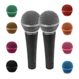 Pair of SA-M30 Dynamic Vocal Microphones with Interchangeable Steel Mesh Grill Heads