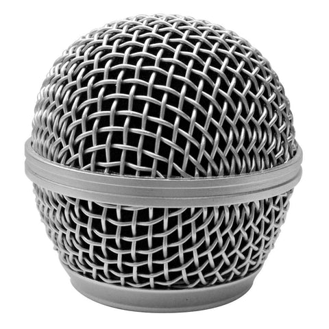 Replacement Steel Mesh Microphone Grill Head - Silver