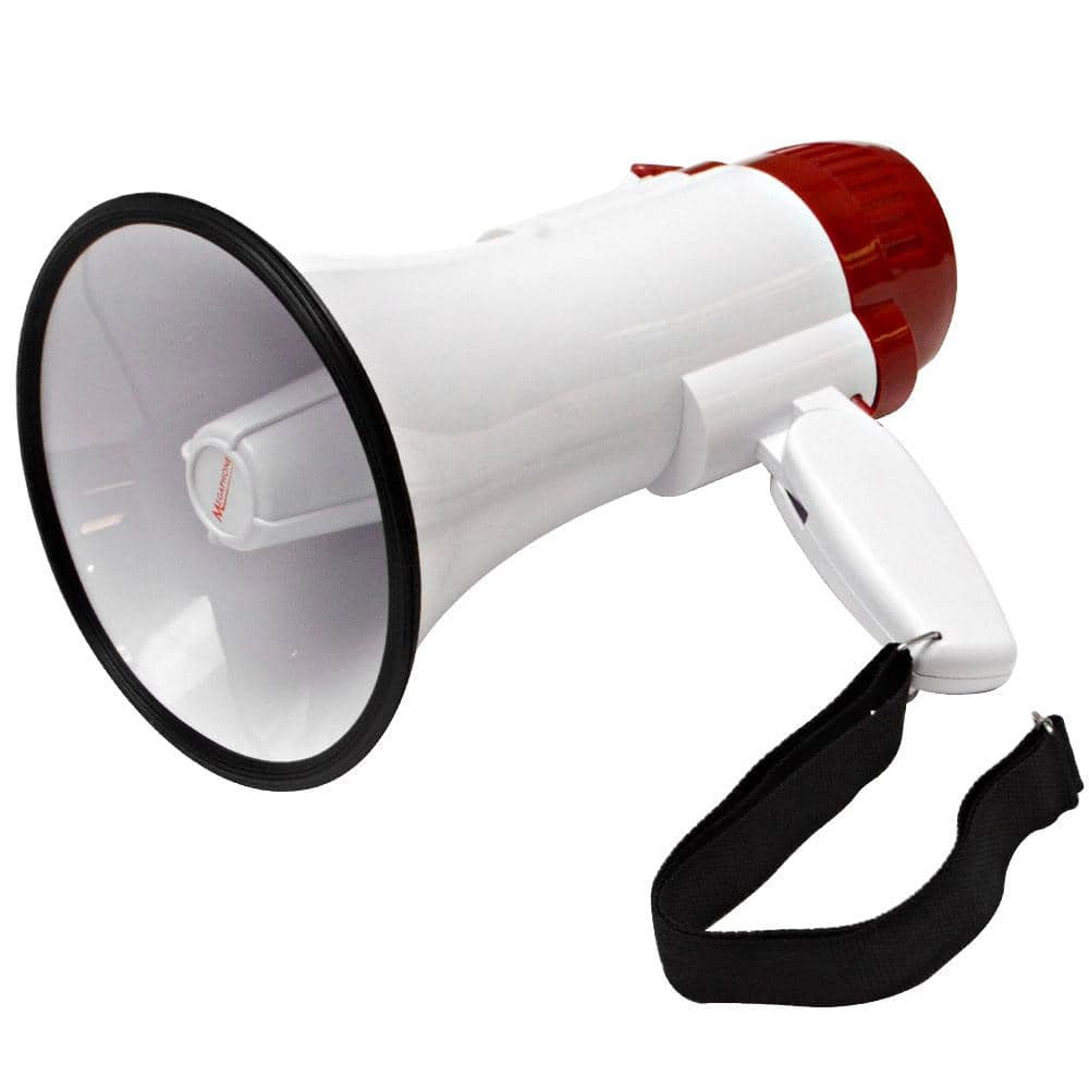 Portable Megaphone Lightweight Standard Talk And Siren