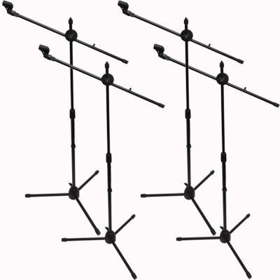 SA-Mic5 - (4 Pack) Dual Tripod Microphone Stands and 5 Clips