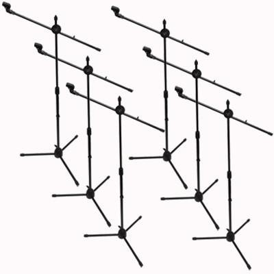 SA-Mic5 - (6 Pack) Dual Tripod Microphone Stands and 5 Clips