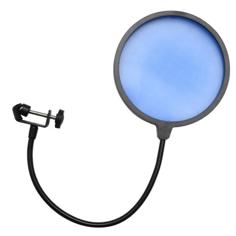 Microphone Wind Screen Pop Filter (Blue)