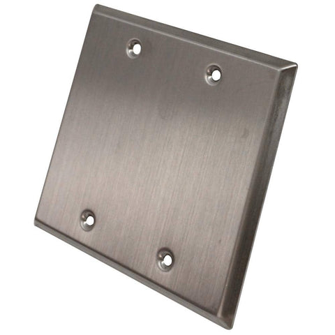 Blank Stainless Steel 2 Gang Wall Plate