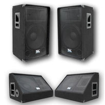 "Pair of 12"" PA Speakers and 12"" Floor Monitors with Titanium Horns"