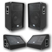 "Pair of 15"" PA Speakers and 15"" Floor Monitors"