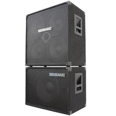 4x10 Bass Guitar Speaker Cabinet with Horn and 1x15 Bass Guitar Cabinet