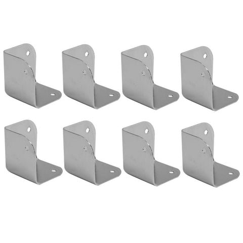 Silver Metal Corners for Back of PA Speakers and Subwoofer Cabinets - 8 Pack