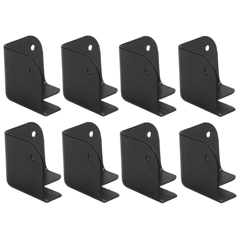 Small Black Metal Corners for Front of PA Speakers and Subwoofer Cabinets - 8 Pack