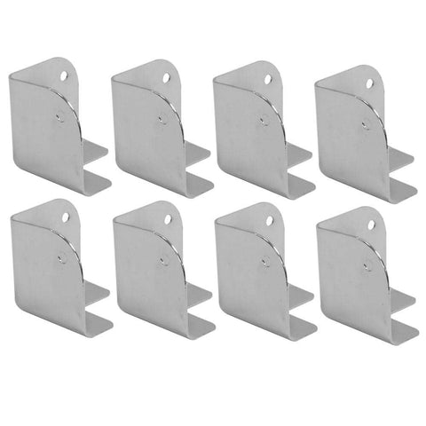 Silver Metal Corners for Front of PA Speakers and Subwoofer Cabinets - 8 Pack