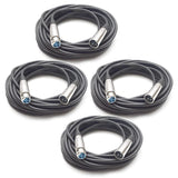 SADMX25 - 25 Foot Premium Heavy Duty DMX Cable (4 Pack)