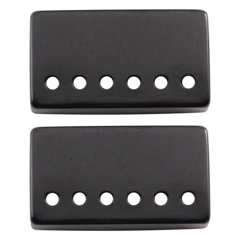 pair of black metal humbucker covers for electric guitars 52mm spacing seismic audio. Black Bedroom Furniture Sets. Home Design Ideas