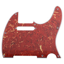 Red Tortoise Shell Replacement Tele Pickguard for Standard Tele Electric Guitar