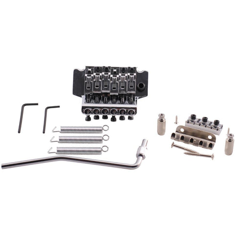 Chrome Floyd Rose Style Electric Guitar Bridge Double Tremolo Kit