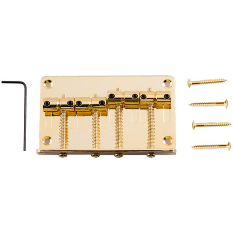 Gold Bass Guitar Bridge for Precision Style and Jazz Bass Guitars