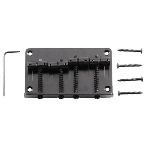 Black Bass Guitar Bridge for Precision Style and Jazz Bass Guitars