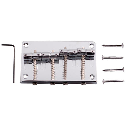 Chrome Bass Guitar Bridge for Precision Style and Jazz Bass Guitars