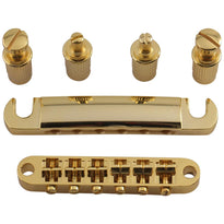 Gold Tuneomatic Guitar Bridge and Tailpiece with Posts for LP Electric Guitar